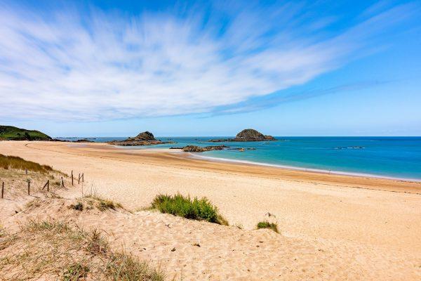 cote mer sable normandie